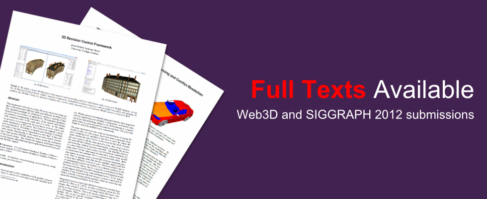 Web3D and SIGGRAPH full texts available