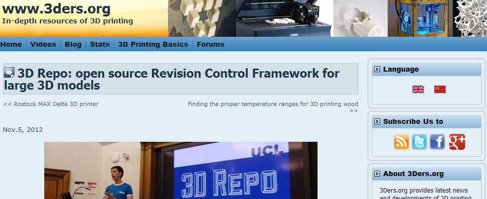 3D Repo featured on 3ders org (updated) – 3D Repo™ – Collaborative