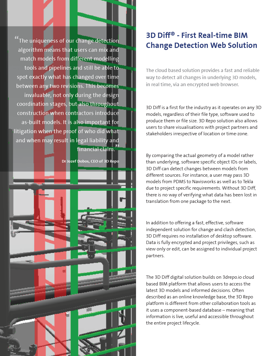 3D Diff® - First Real-time BIM Change Detection Web Solution