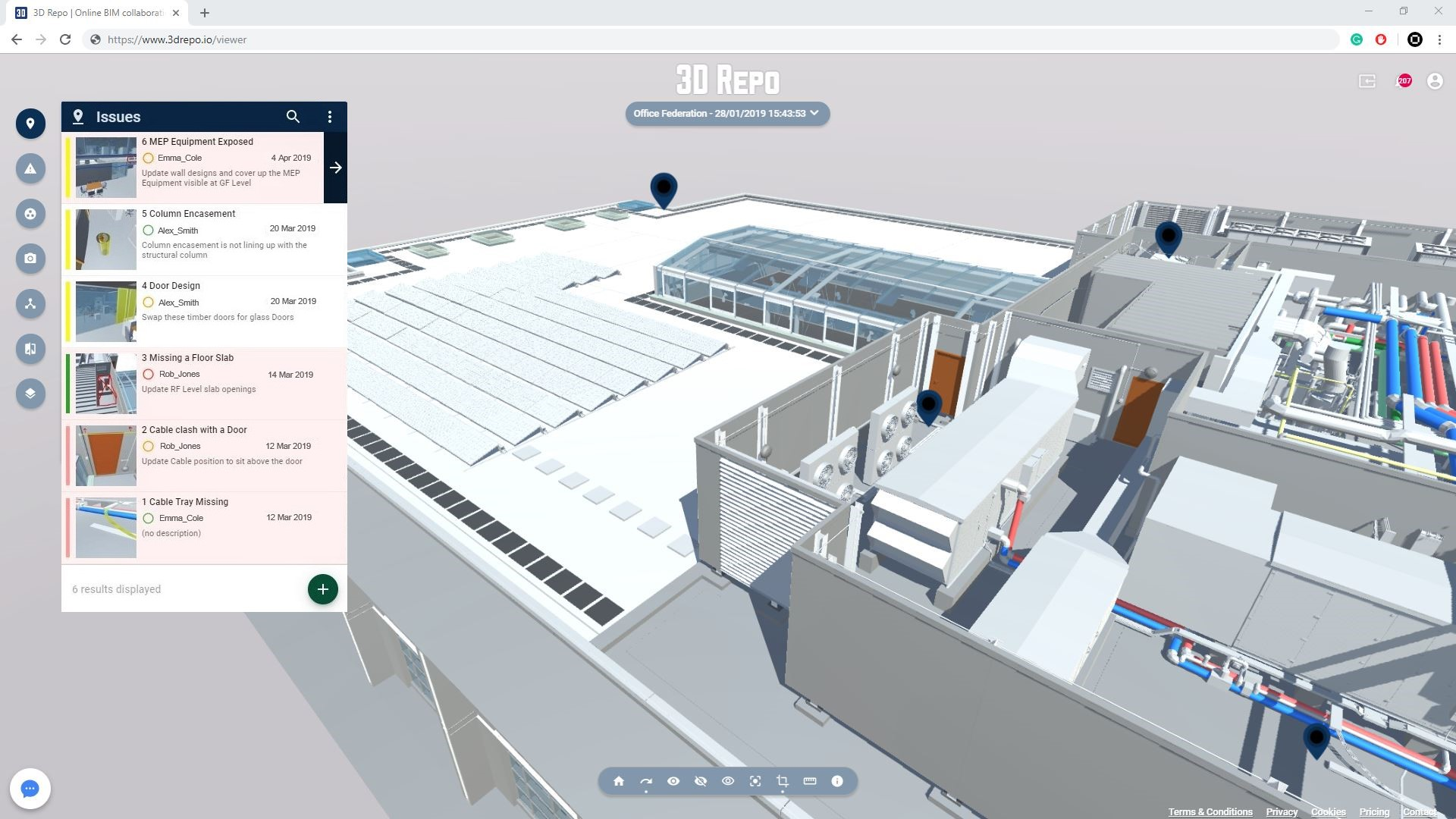 Features | 3D Repo BIM Online